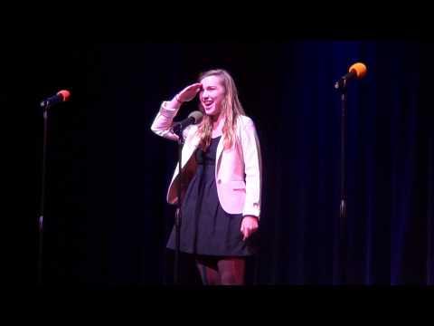 Julia Paris singing in the San Marcos High School Broadway Musical Marathon...from Seussical