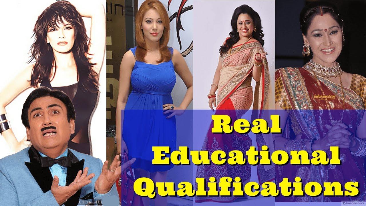 Educational Qualifications of Tarak Mehta Ka Ooltah Chashmah Actors -  Taarak Mehta Star Casts by Anis Khan