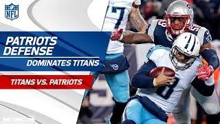 New Englands Defense Racks Up 8 Sacks  Titans vs Patriots  Divisional Round Player HLs