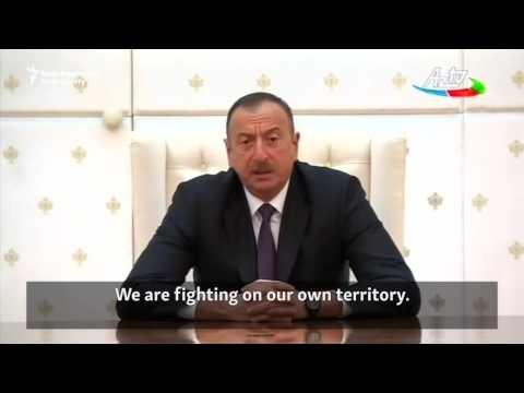İlham Əliyev qəzəbli çıxış edir / Azerbaijani President Says Armenia Violated International Law