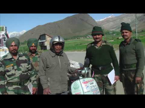 Good Evening India: Conversation with JP Bhattnagar who rode to Ladakh three times on a scooter