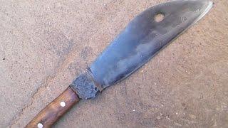 Forja de un cuchillo laminado de principio a fin. Forge a laminate sheepsfoot knife.