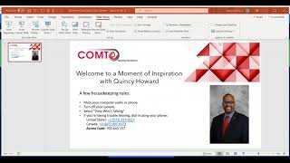 05 29 2020 COMTO National Moment of Inspiration w/Quincy Howard