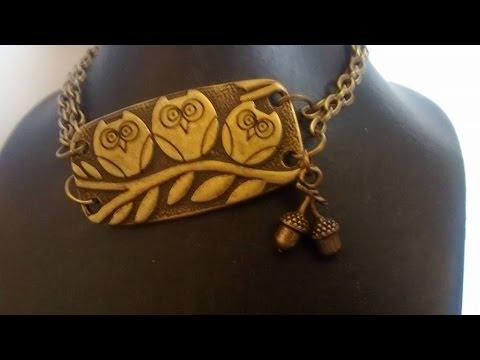 G's Metal Embellishment Emporium DIY Owl bracelet!