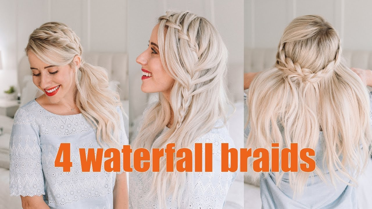 four gorgeous waterfall braids || wedding hairstyles || twist me pretty