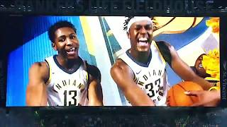 Pacers opening night ceremony