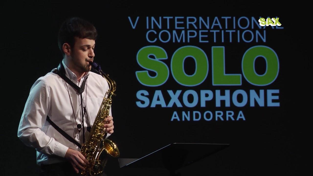 RAFAEL CACHO PLAZA – 2nd ROUND – V ANDORRA INTERNATIONAL SAXOPHONE COMPETITION 2018