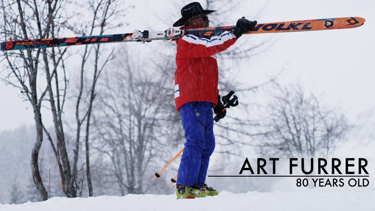 80 Year old guy on the longest skis in the world - Art Furrer