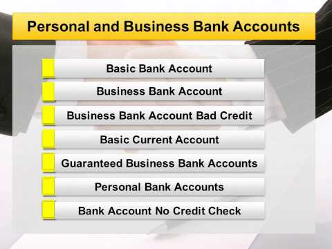 Basic or Business Bank Account Bad Credit to rebuild financial status