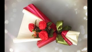 Скачать ABC TV How To Make Flower Bouquet With Three Rose Craft Tutorial