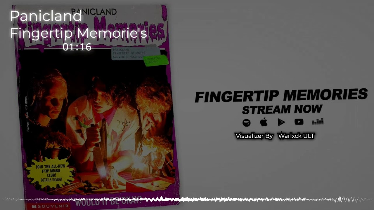 Panicland - Fingertip Memorie's (Audio Visualizer By Warlxck ULT)