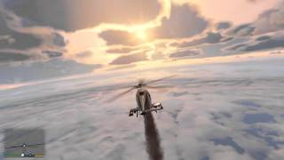 GTA V - Flying to the edge of the map in an indestructible helicopter