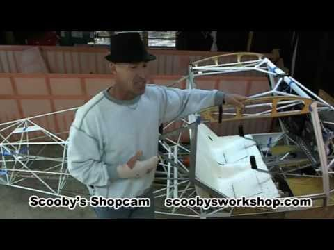 Scooby's Shop Webcam - building an airplane