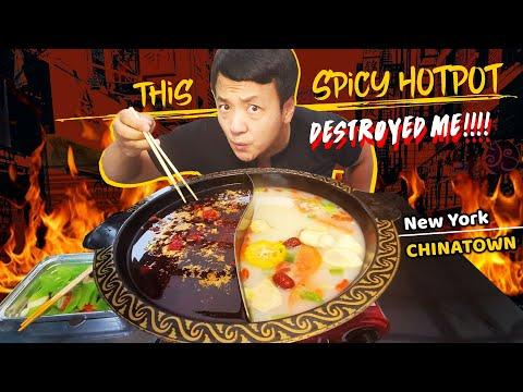 DANGEROUS Chinatown Hotpot \u0026 Wonton BREAKFAST NOODLES | Exploring LARGEST CHINATOWN In New York
