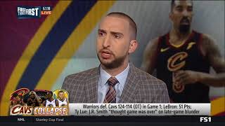 Nick And Cris React To The Jr Smith Mistake That Cost The Cavs The Game
