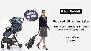 R For Rabbit Pocket Stroller Lite-The Most Portable Stroller Installation
