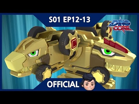 Thumbnail: [Official] DinoCore | Series | A new golden Ultra D Buster | Robot Animation | Season 1 EP12~13