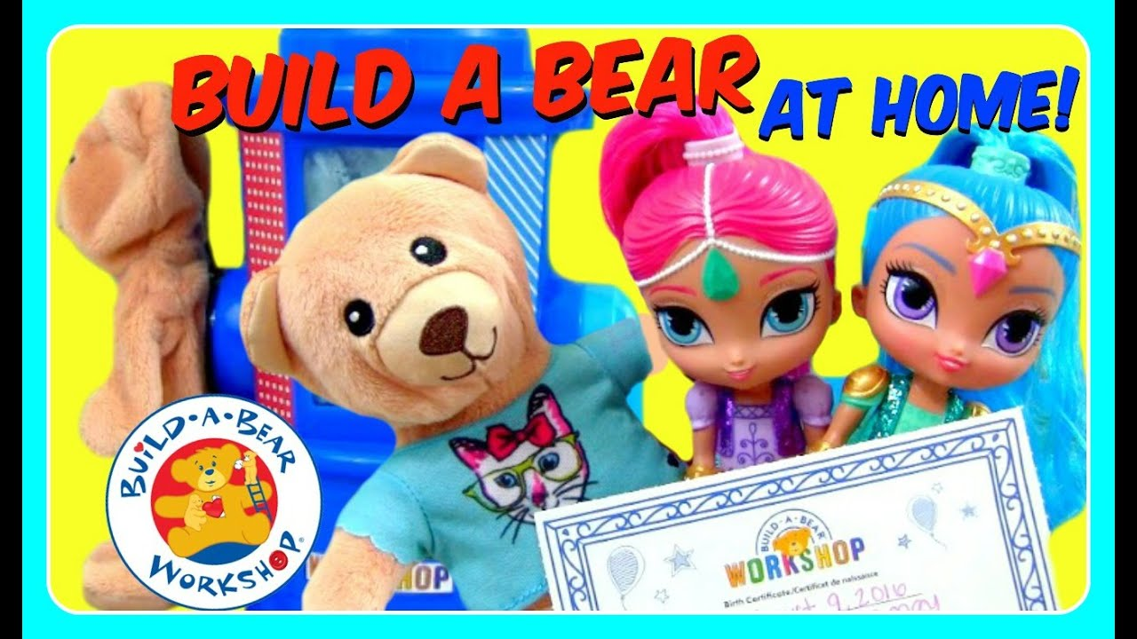 Make Your Own Build A Bear Certificate