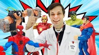 Мстители и #ЧеловекПаук с Доктором Ой! Все #супергерои сборник! Мультики и #ИгрыДляМальчиков