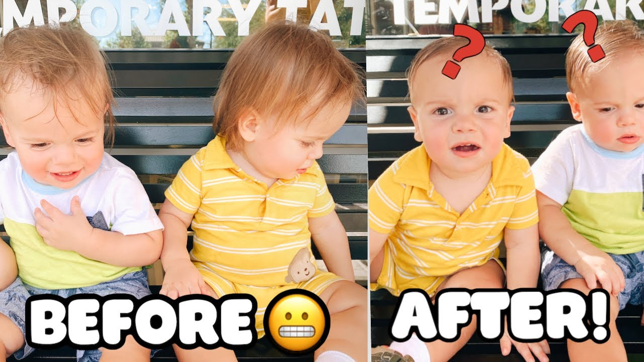 Twins FIRST Haircut At A Year & A Half Old