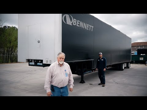 Bennett's David Lowry Demos LCS Loadcovering System Protecting Our Freight