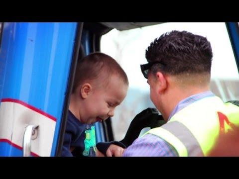 Garbage men make dying kid's dream come true