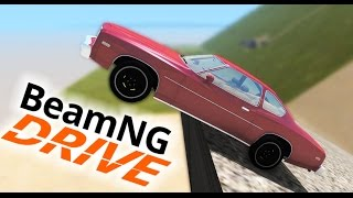 BIGGEST JUMP EVER! SICK CRASHES! (BeamNG Drive Funny Moments)