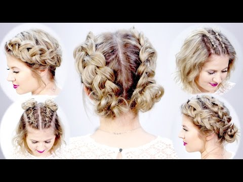 5 DOUBLE DUTCH BRAIDED HAIRSTYLES FOR SHORT HAIR