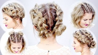 5 DOUBLE DUTCH BRAIDED HAIRSTYLES FOR SHORT HAIR | Milbau