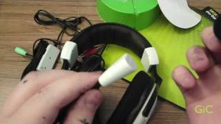turtle beach ear force x11 gaming headphones for xbox 360 unboxing setup