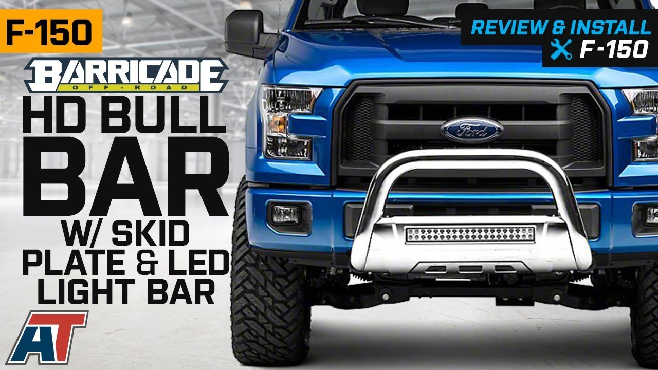 Excluding Raptor Polished Stainless Steel F-150 2004-2019 Bull Bar Barricade 3.5 in