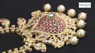 Latest Fancy Long Haram with Ruby Stones   Malabar Gold and Diamonds