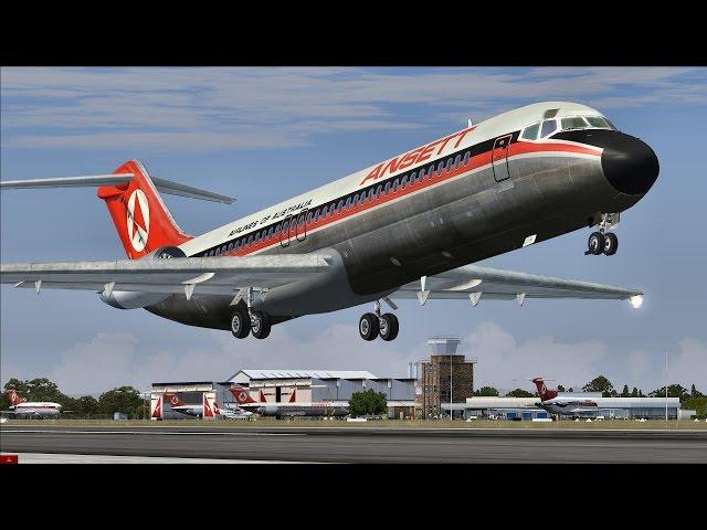 Полёт на McDonnell Douglas DC-9  FSX  - VidInfo