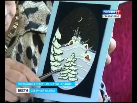 Мастерица из Северной Осетии из обрезков ткани создает картины