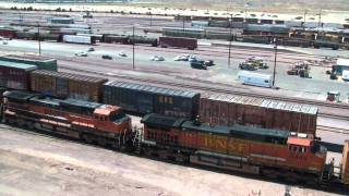 BNSF Barstow Yard Tower Tour HD