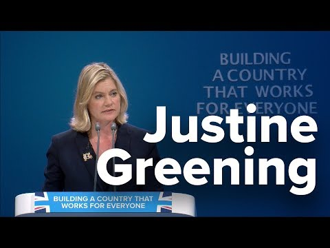 Justine Greening: Speech to Conservative Party Conference 2017