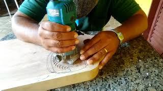 Como desenhar um brasão com a Tupia em uma tábua de carne