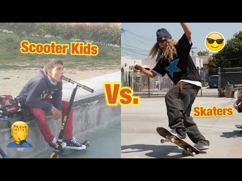Skaters Vs. Scooters Kids 2020 | Scooter Fails | 2020 | Fail Videos | Skaters Vs. People