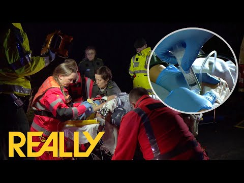 Woman Hit By A Car Has To Be Put Into An Induced Coma Before Flying To The Hospital   Helicopter ER