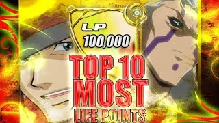Yu-Gi-Oh: The Ten HIGHEST Life Point Values! (Anime Only)