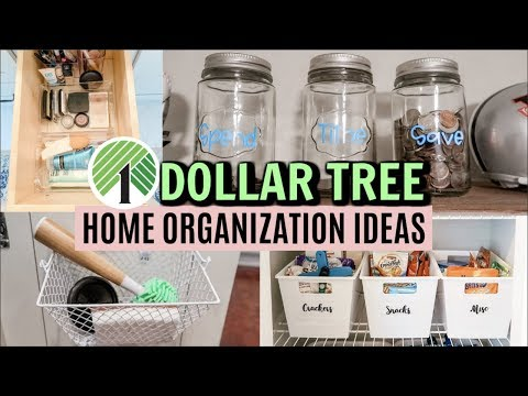 DOLLAR TREE HOME ORGANIZING IDEAS // ORGANIZING ON A BUDGET // MAKE-UP ORGANIZATION