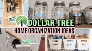 DOLLAR TREE HOME ORGANIZING IDEAS // ORGANIZING ON A BUDGET // MAKE-UP ORGANIZATION