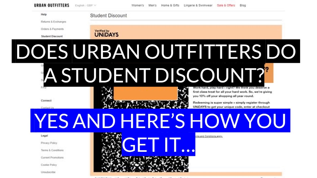 Urban Outfitters Student Discount Youtube