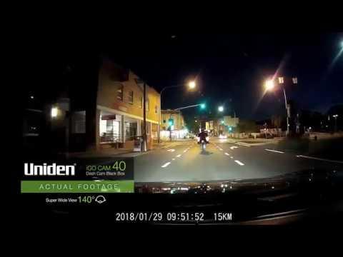 Uniden - IGO CAM 40 Dash Cam Sample Footage (Night)
