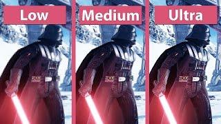 Star Wars: Battlefront – PC Low vs. Medium vs. Ultra Graphics Comparison (Beta) [FullHD][60fps]
