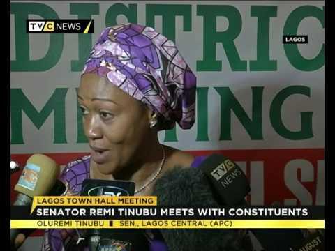 Senator Oluremi Tinubu meets with constituents in Lagos State