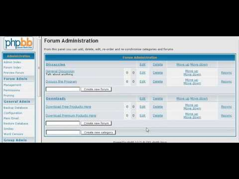 How To Set Up a PHPBB Forum part 1
