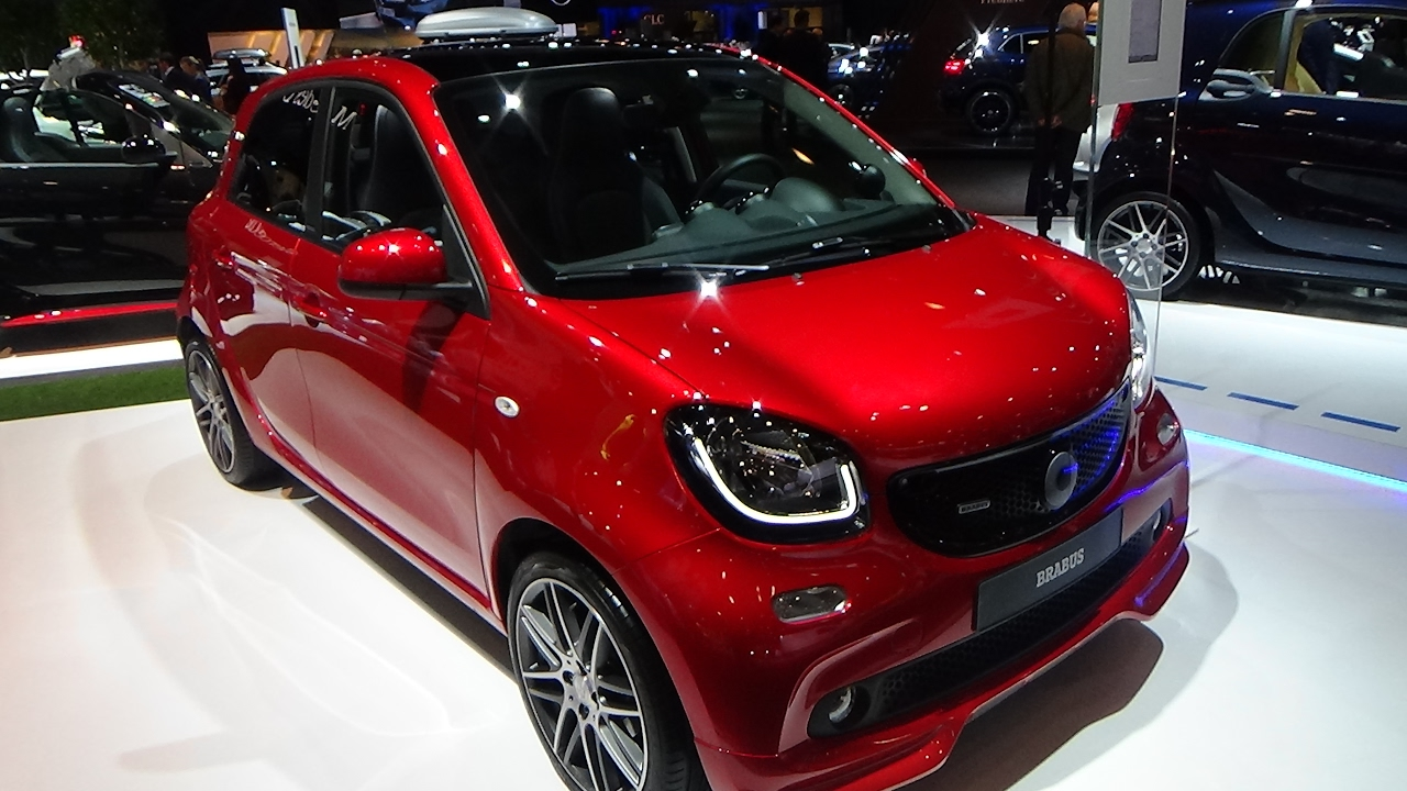 2017 smart forfour brabus exterior and interior auto show brussels 2017 youtube. Black Bedroom Furniture Sets. Home Design Ideas