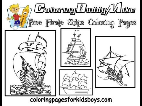 ColoringBuddyMike: Pirate Ship Coloring Pages