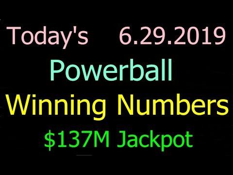 Today Powerball Winning Numbers 29 June 2019. Powerball Drawing Tonight Saturday 6/29/2019